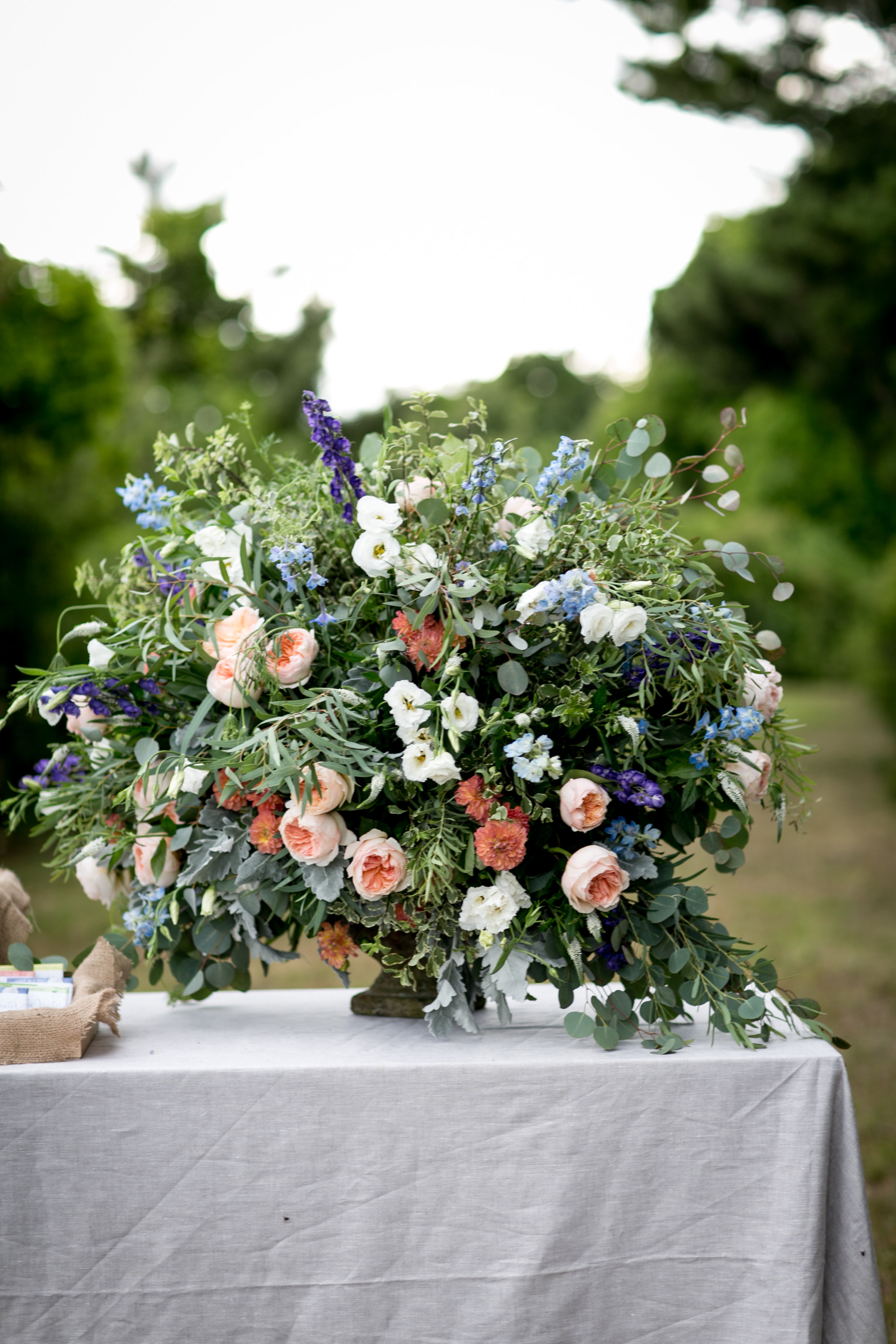 Hana Floral Design with Ashley Douglass Events. Waterfront wedding in Old Lyme, CT.