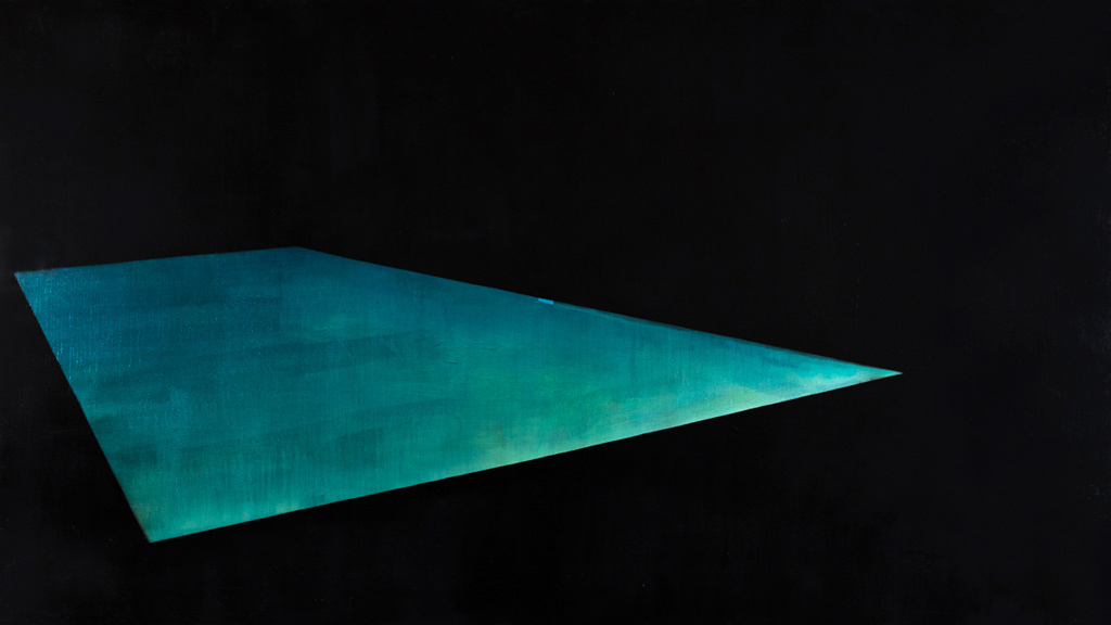 Pool 2  ,     2014, 54 x 96 in. acrylic and oil on canvas