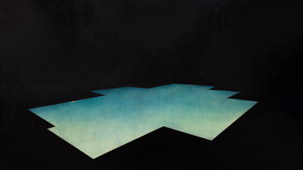 Pool 5  ,     2014, 65 x 115 in. acrylic and oil on canvas