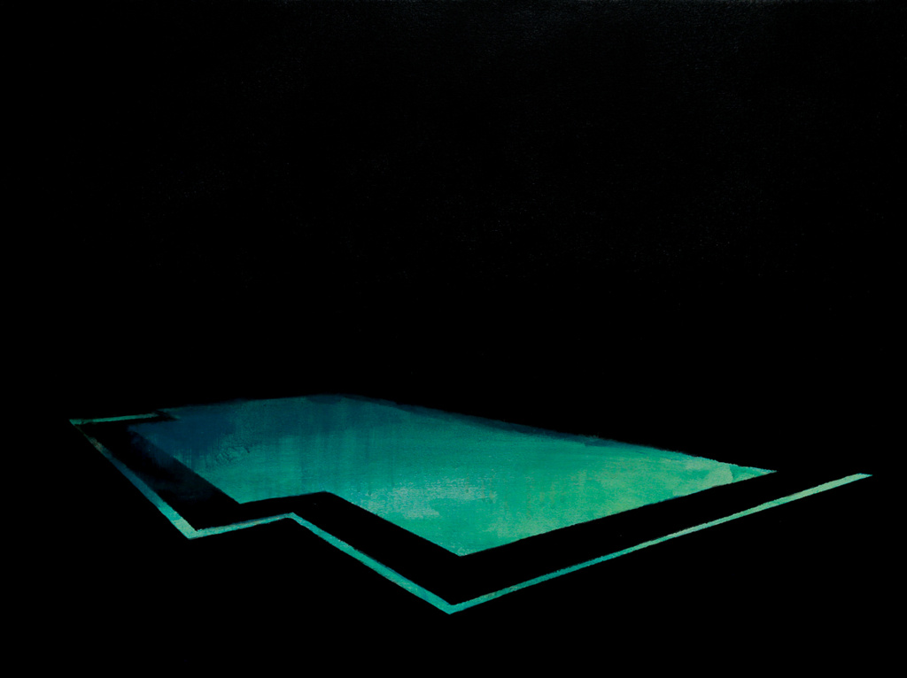 Pool 22  ,     2015, 24 x 32 in. acrylic and oil on canvas