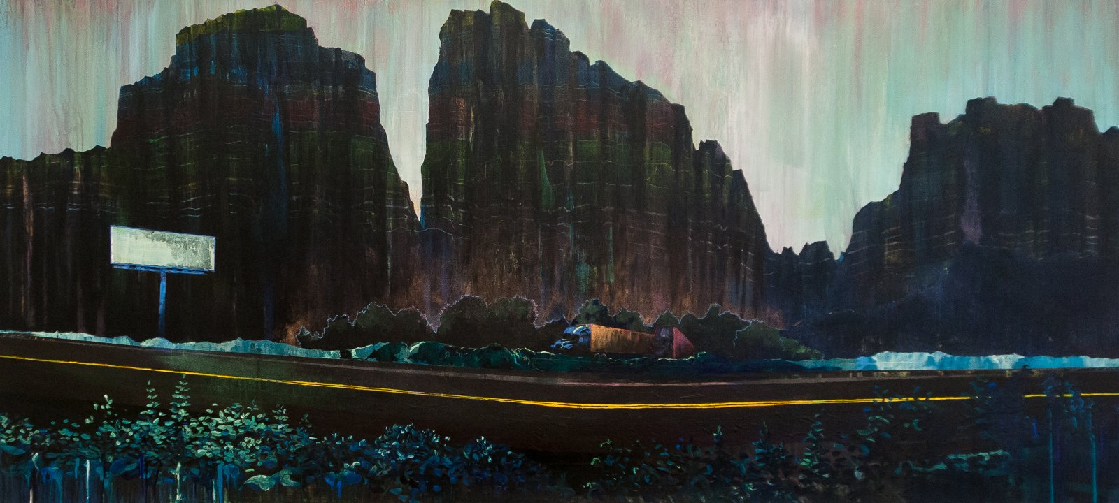 Arizona , 2009, acrylic on canvas, 54 x 120 in., available at  Haw Contemporary