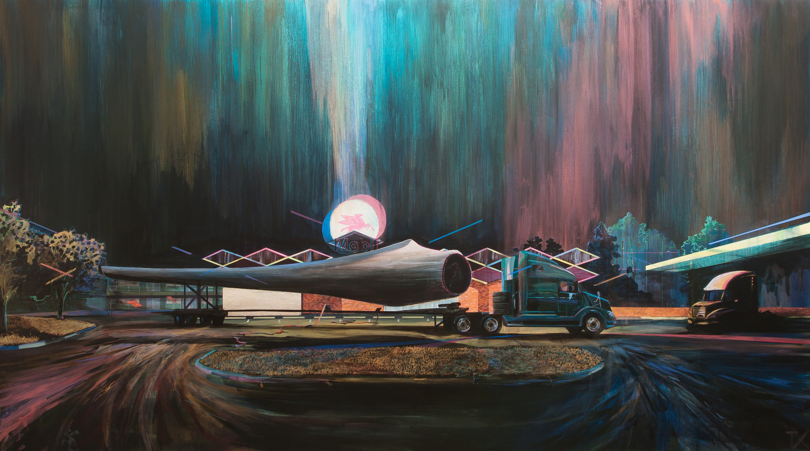Texas ,2012, acrylic on canvas,61 x 102 in., private commission