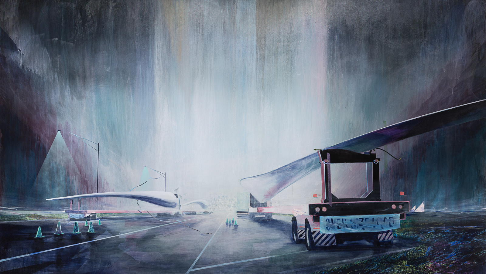 Kansas II (White Night) , 2016, acrylic on canvas,65 x 115 in., Commissioned by the University of Kansas Business School for the Capitol Federal Hall Collection