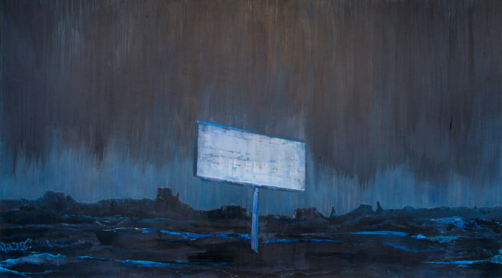 Utah , 2 006, acrylic on canvas, 54 x 96 in.,available at  Haw Contemporary