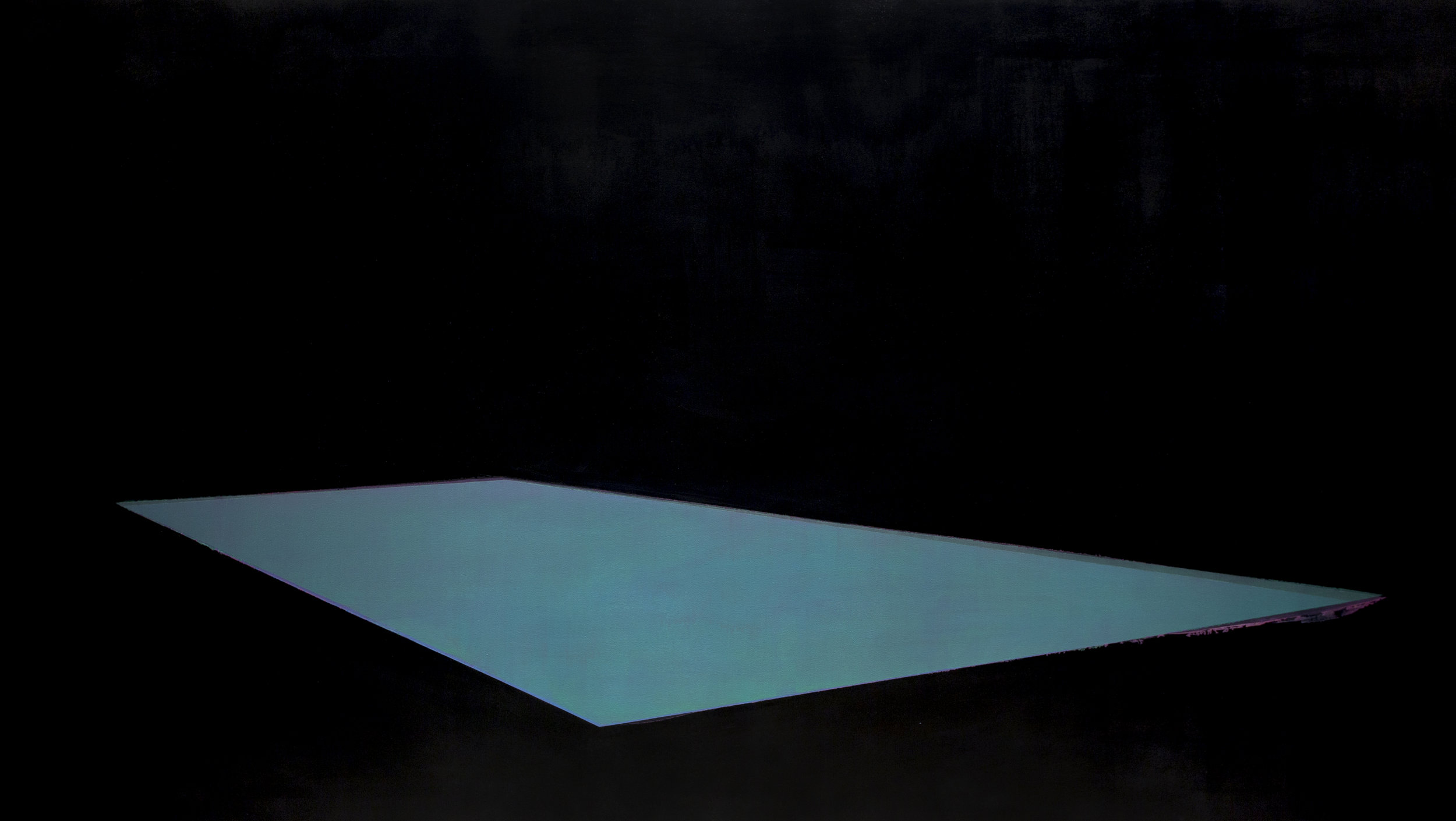 Pool 15  ,     2015, 84 x 149 in. acrylic and oil on canvas