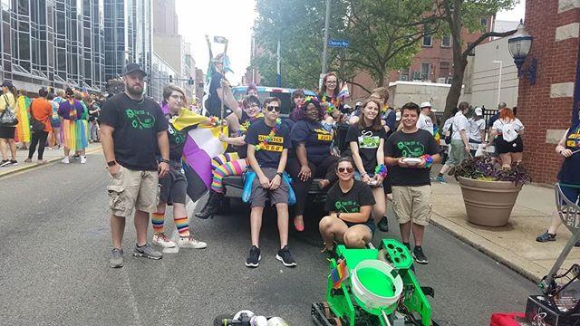 Pittsburgh Pride Parade 2019 with @quasicsrc  #FIRSTRobotics  #FIRST  #MakeFIRSTLoud  #Pride #LGBTQ+ #PITTSBURGH
