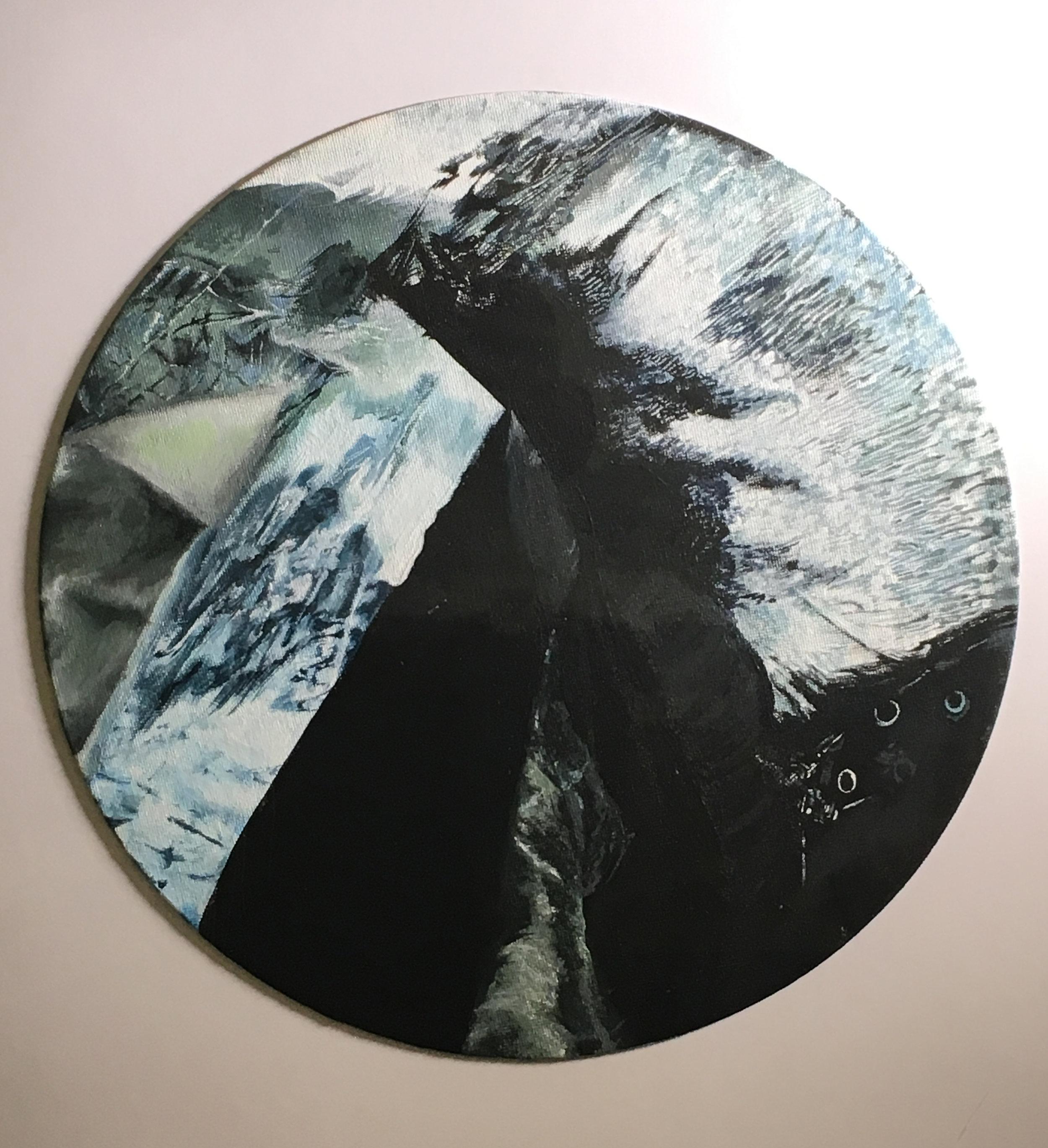 Giselle Echeveria  Untitled Acrylic on Canvas  High Tech 17x17  Hudson County
