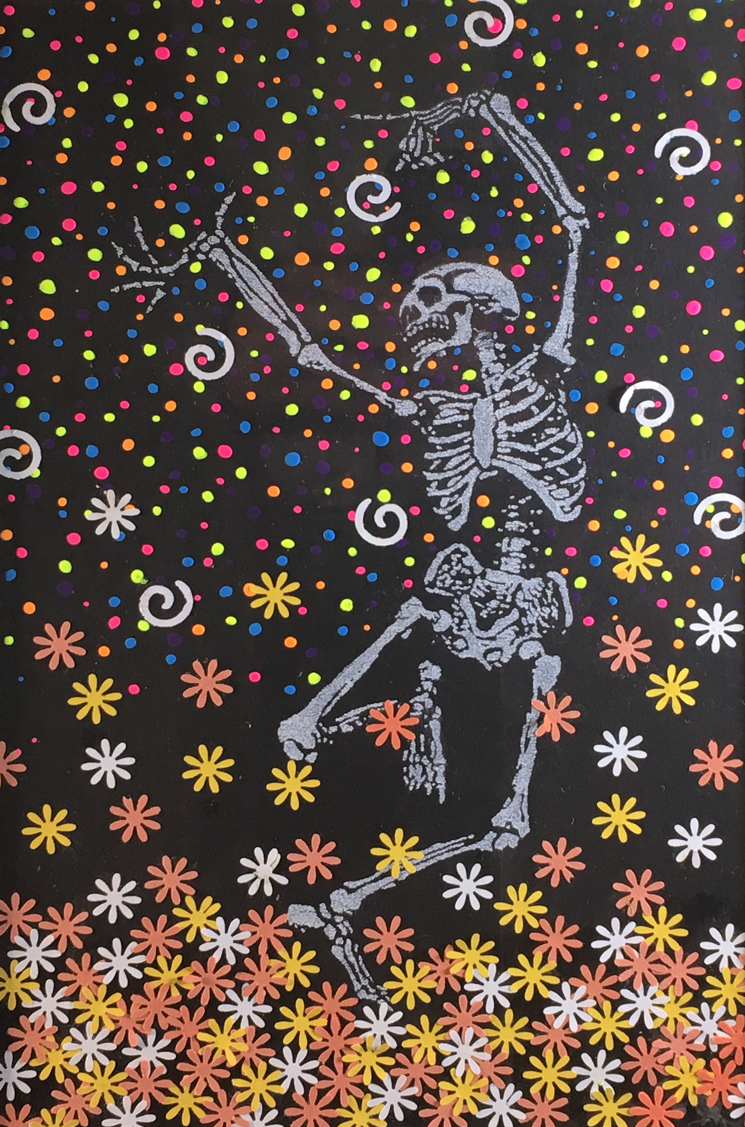 Madeline Garcia  Dancing with the Dead Mixed Media Cranford High School 16.5 x 14.5  Union County