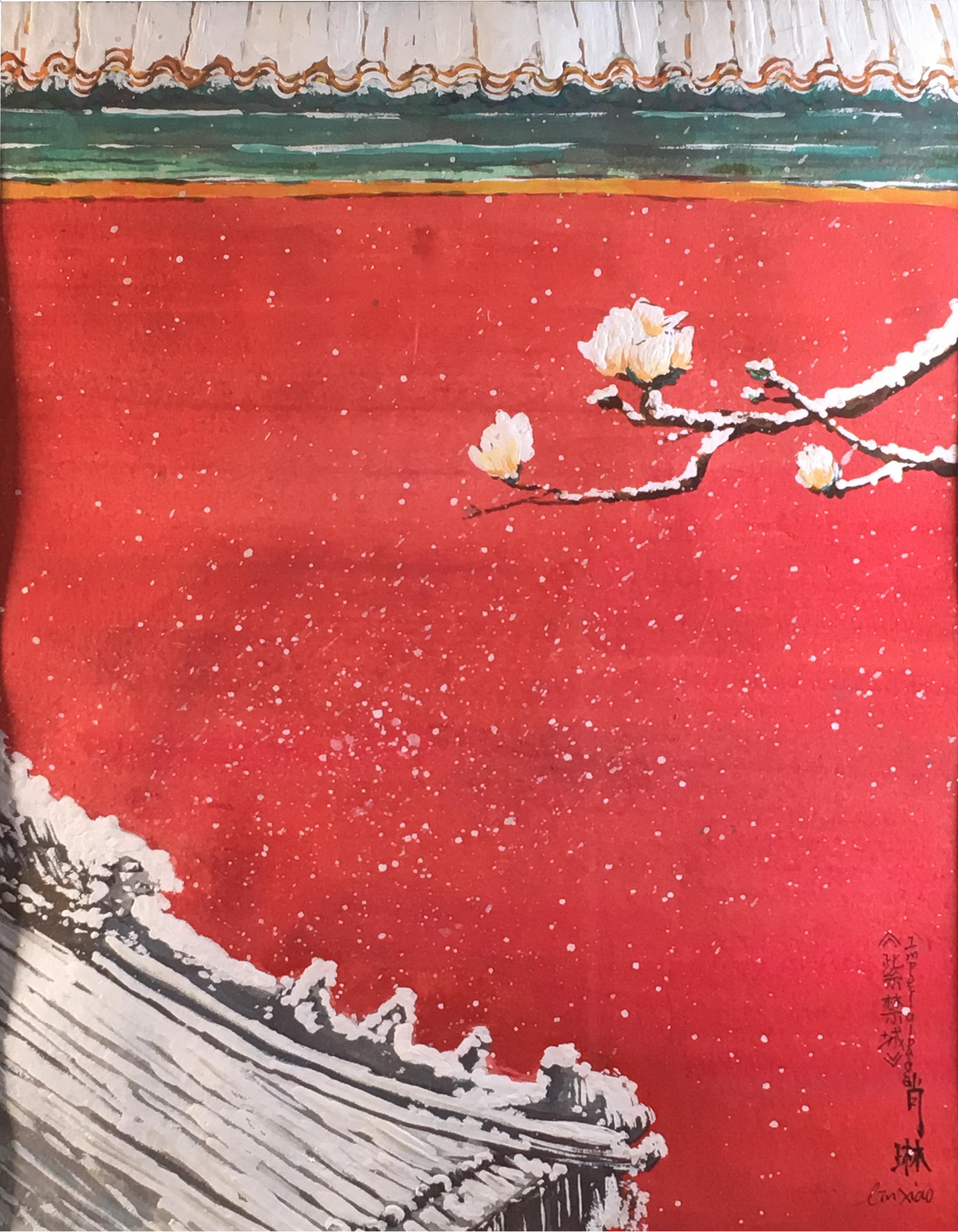 Lin Xiao  500 Years Ago Watercolor, pen  Atlantic Christian School 18x12  Atlantic County