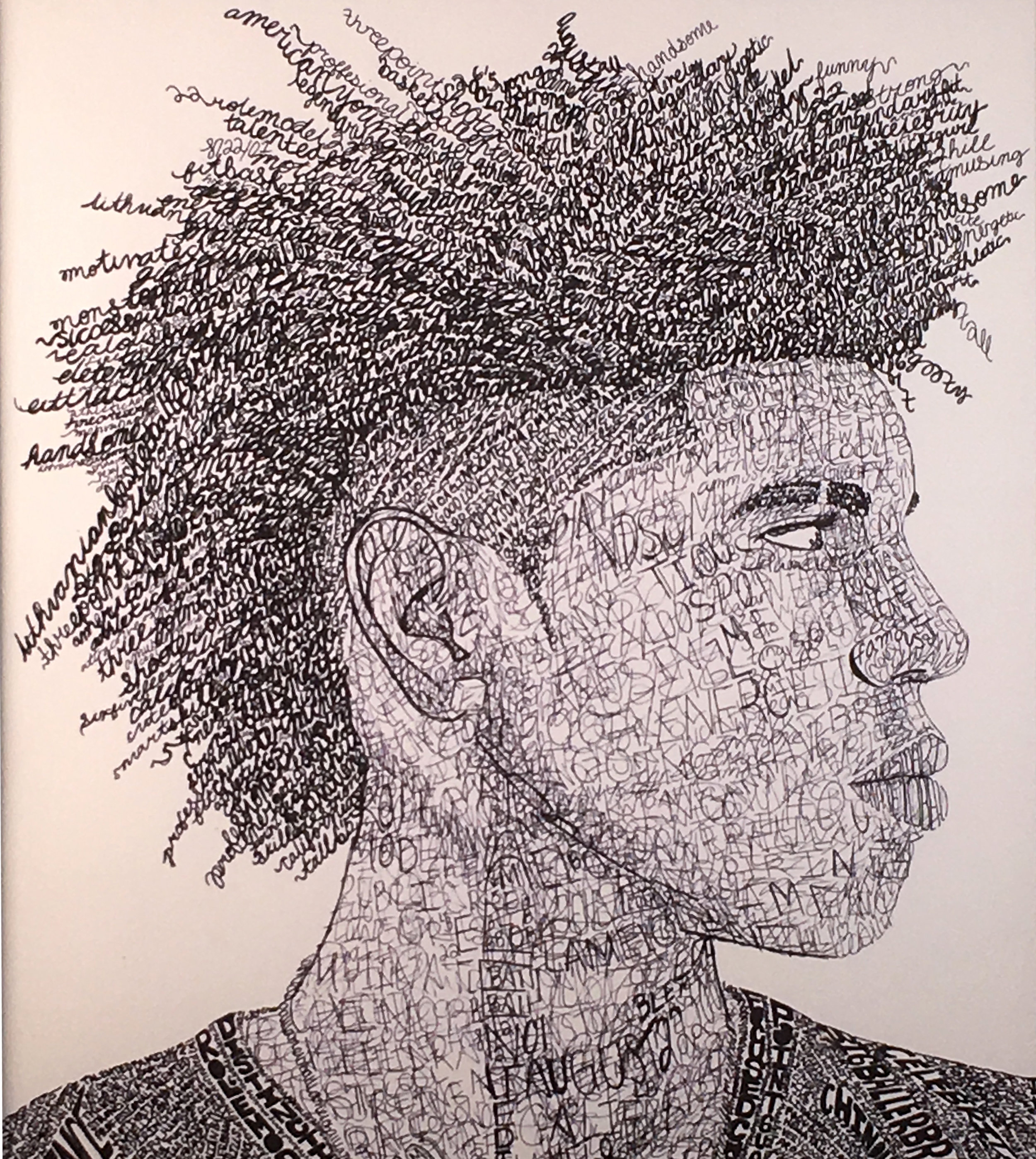 Evelyn Gonzalez  Untitled Micron Pen  Perth Amboy HS 16x20  Middlesex County