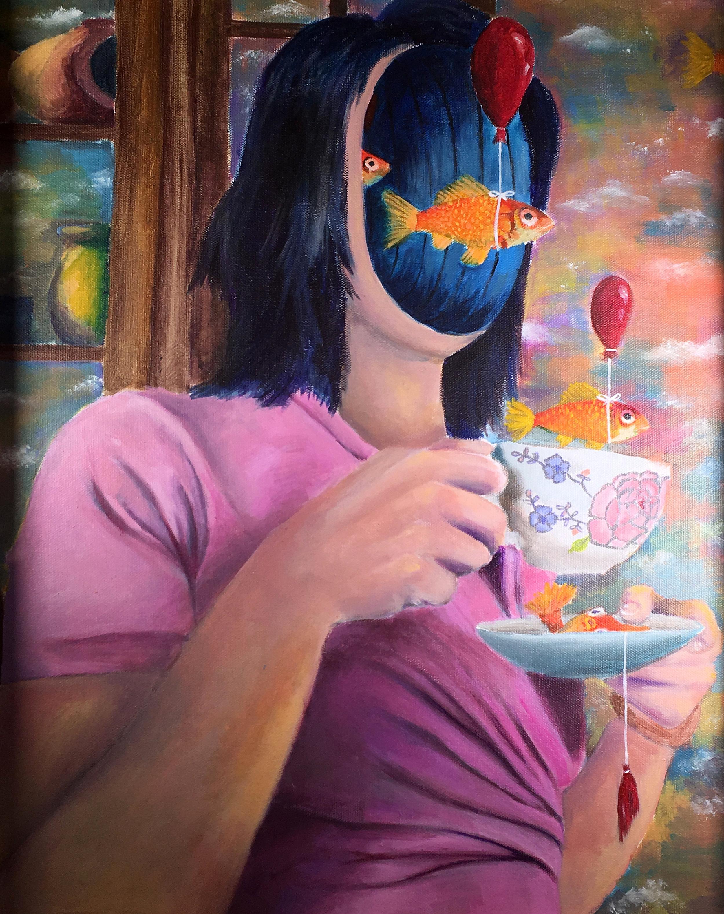 Natalie Rybale  Not My Cup of Tea Acrylic  Bridgewater Raritan High School 21.5x17.5 Somerset County