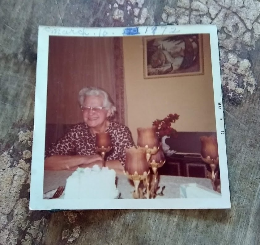 Grandma Lamp sewed outfits for herself. This was one of her favorites- leopard print blouse and pants!