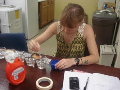 Megan Hansen at Silent Spring Institute, Boston