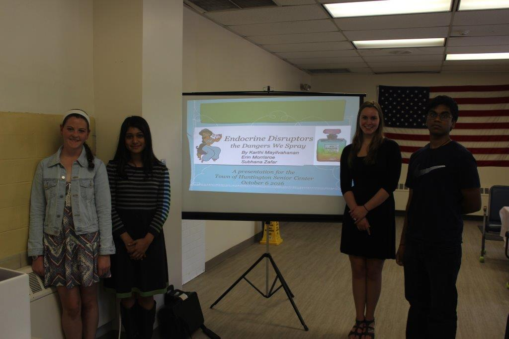 Students at Senior Center presenting their research