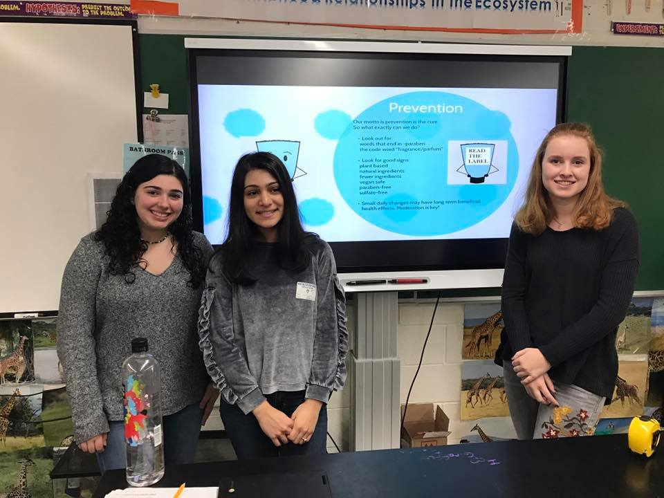 Outreach to Huntington High School research classes