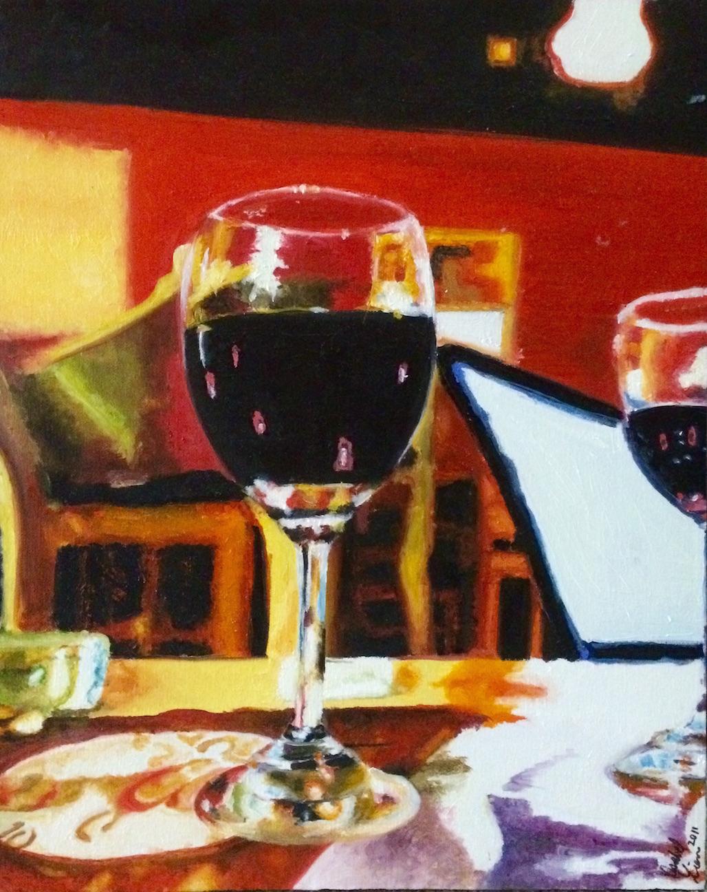 grape juice. oil on canvas. 24x18