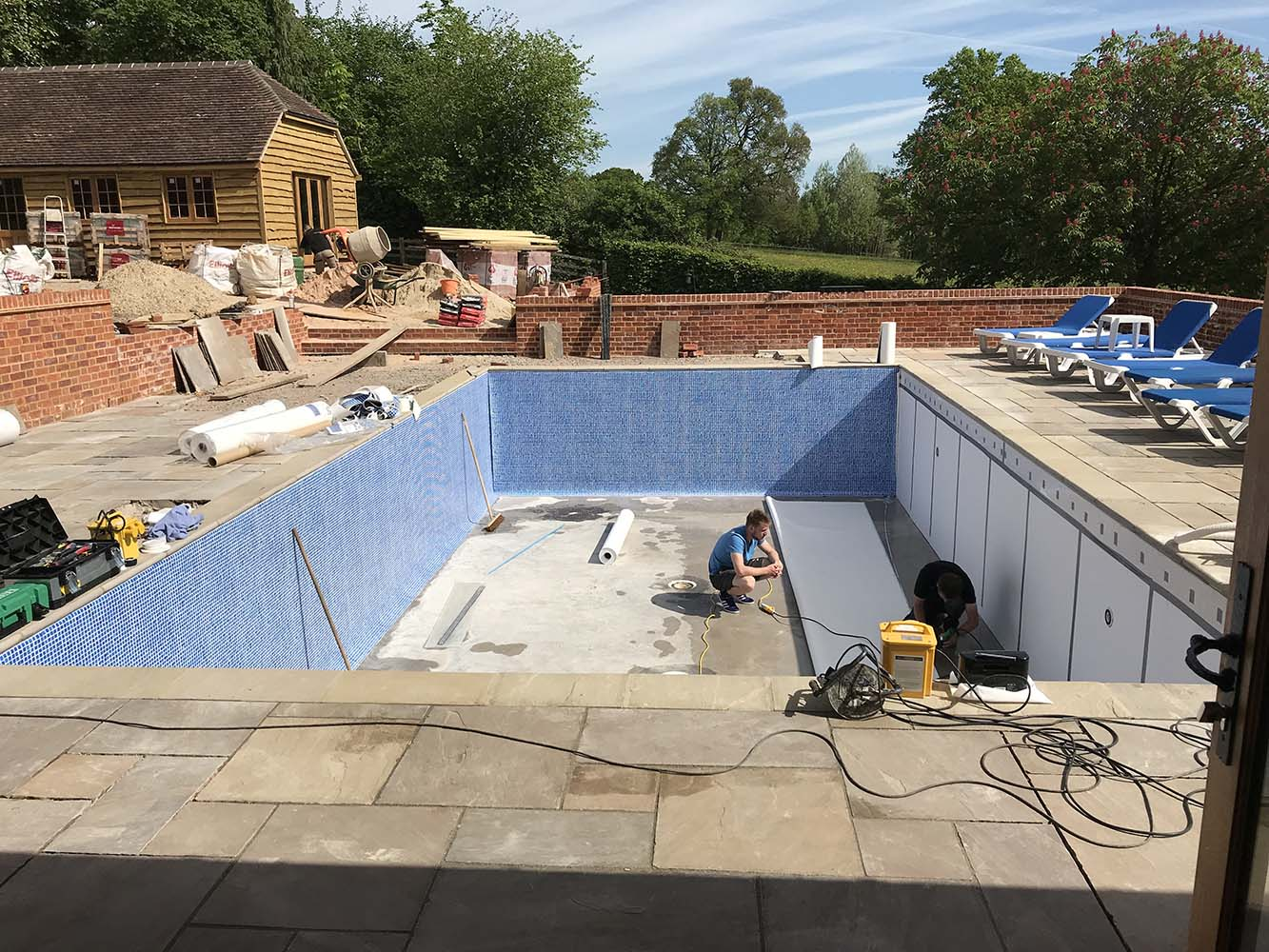 Swimming pool taking shape!
