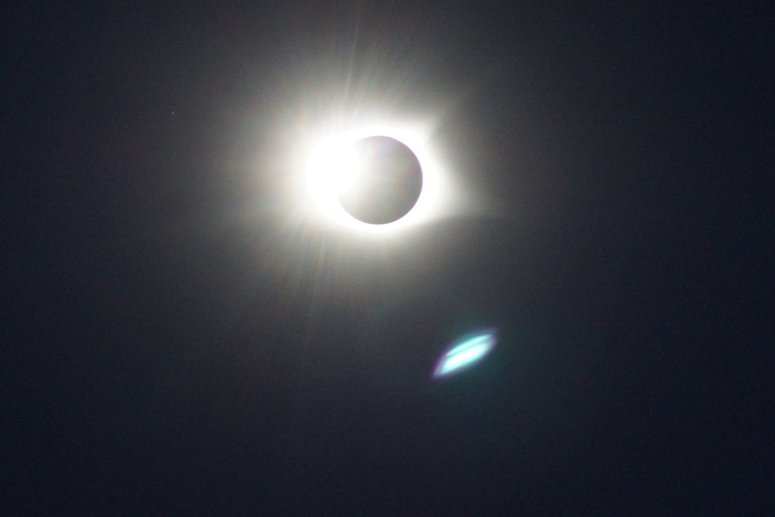 Moments before the total solar eclipse