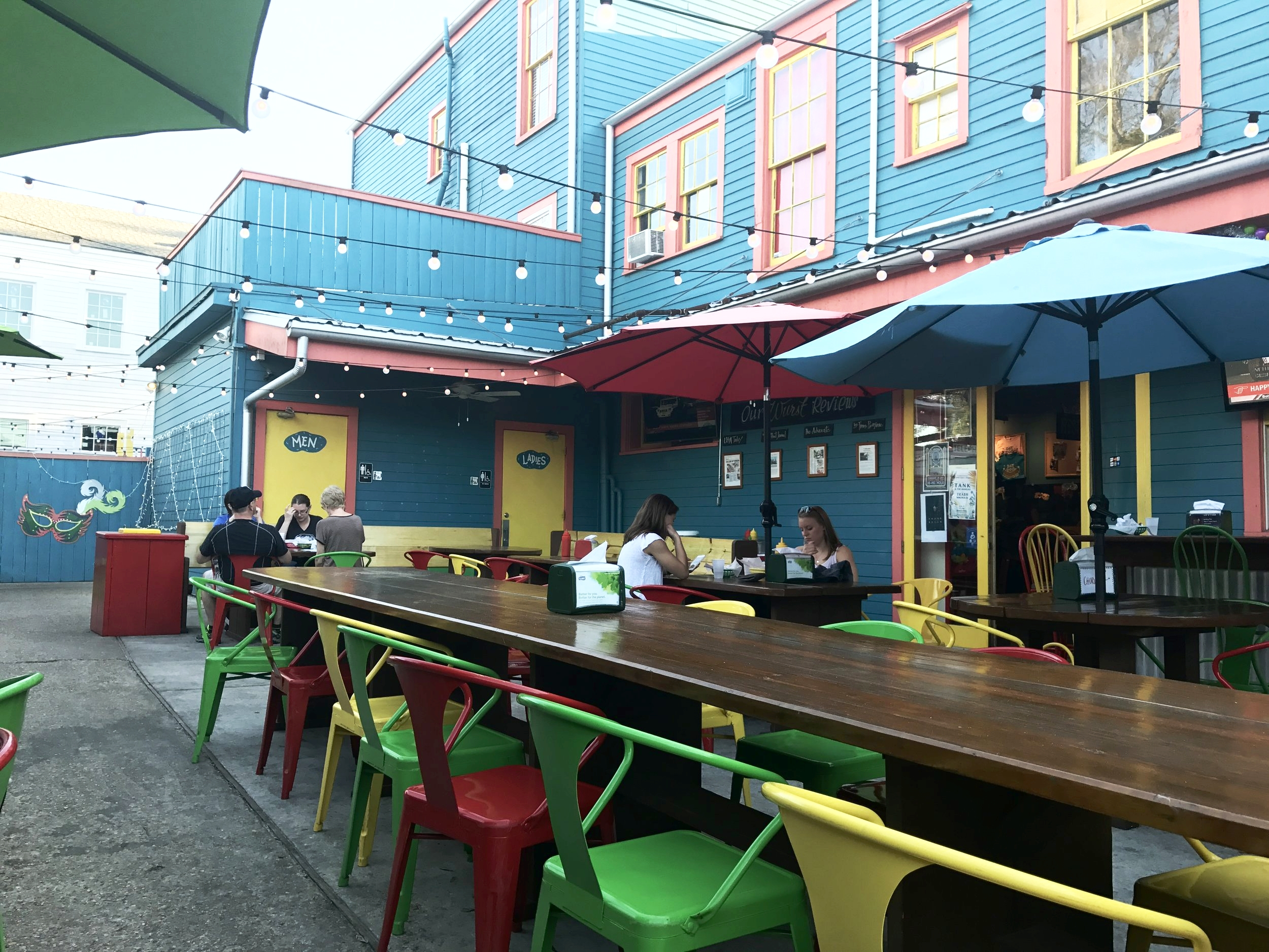 Dat Dog's dog-friendly patio area