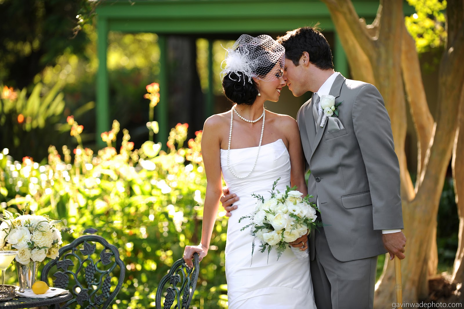 Great Gatsby Wedding White Bridal Bouquet.jpg