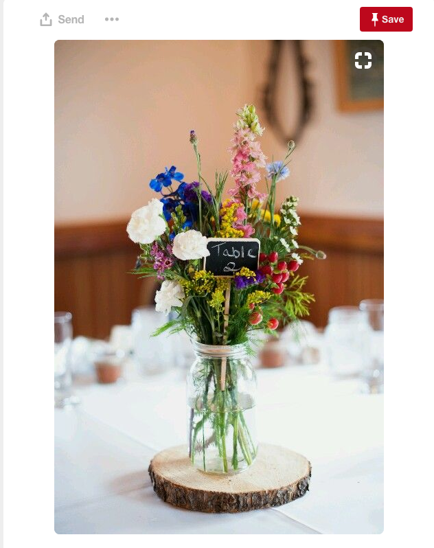 Simple wildflowers for your Gilbert wedding is a great idea, particularly for a Fall wedding.