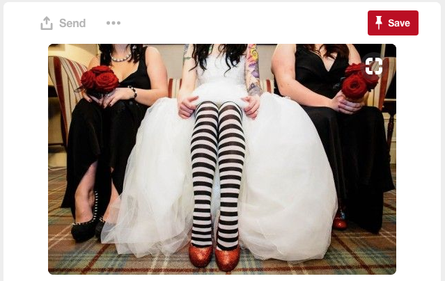 And this is just adorable! Of course you have to have unique shoes and Halloween flare under your dress...wink, wink.