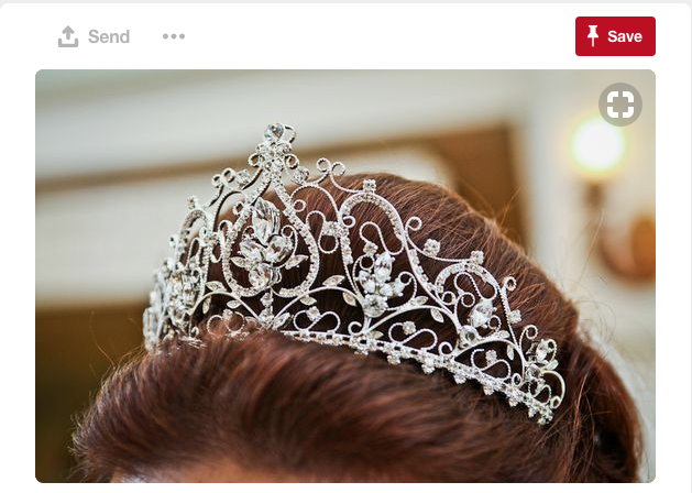Don't forget about the royal tiara!