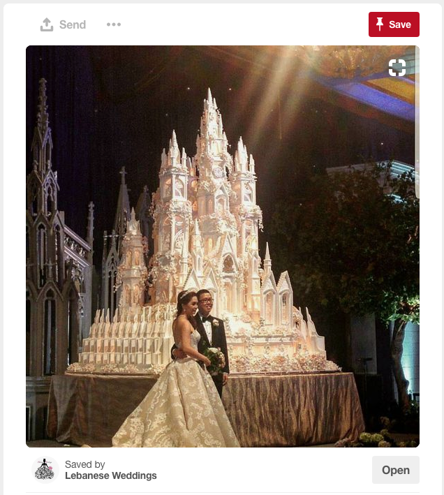 Or you can go really crazy and spend your entire savings and then some on your royal wedding cake...or maybe this is a bit over the top.