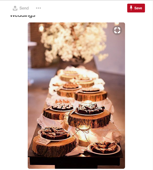 I love this idea of taking tree stumps and displaying them in such a way that is nearly a piece of art for your Gilbert wedding.