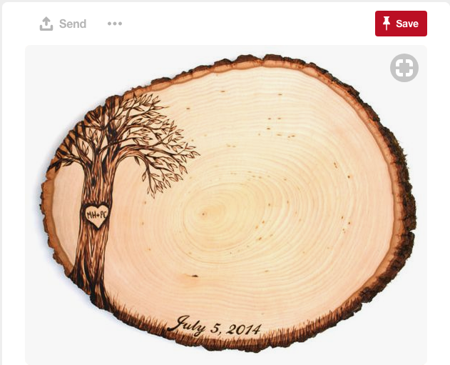 How beautiful is this? To commemorate your tree-inspired wedding, consider having some art made in your image.
