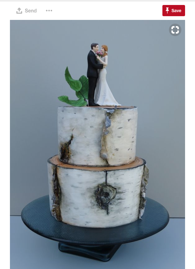 And, of course, you can't have a tree-inspired wedding in Gilbert without a beautiful tree-inspired wedding cake.