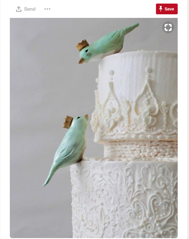 How about some beautiful cake toppers? These adorable little birds will make a great addition to your wedding cake.