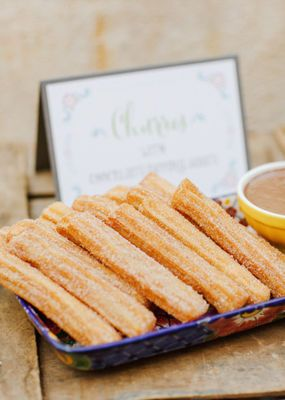 You can't have a taco bar without churros!! I mean, they might not be as yummy as Disneyland churros, but your wedding guests will love them!