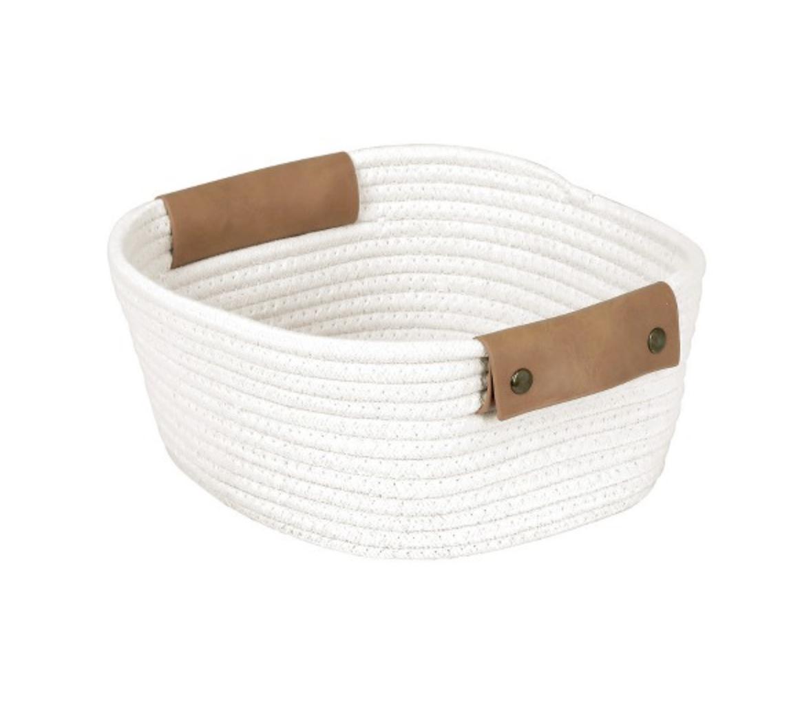 "11"" Square Base Tapered Basket Small Cream - Threshold™"