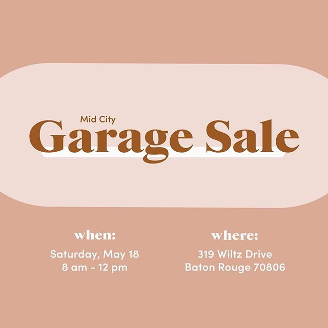 Putting on a garage sale with my friends this Saturday!! If you're in BR come see us. My friends are really cool so they probably have really cool stuff 😉
