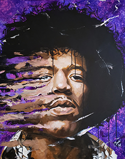 """Purple Haze"" by Shawn Conn whose Exhibition, ""Windows Into Darkness"", opens on April 6th."