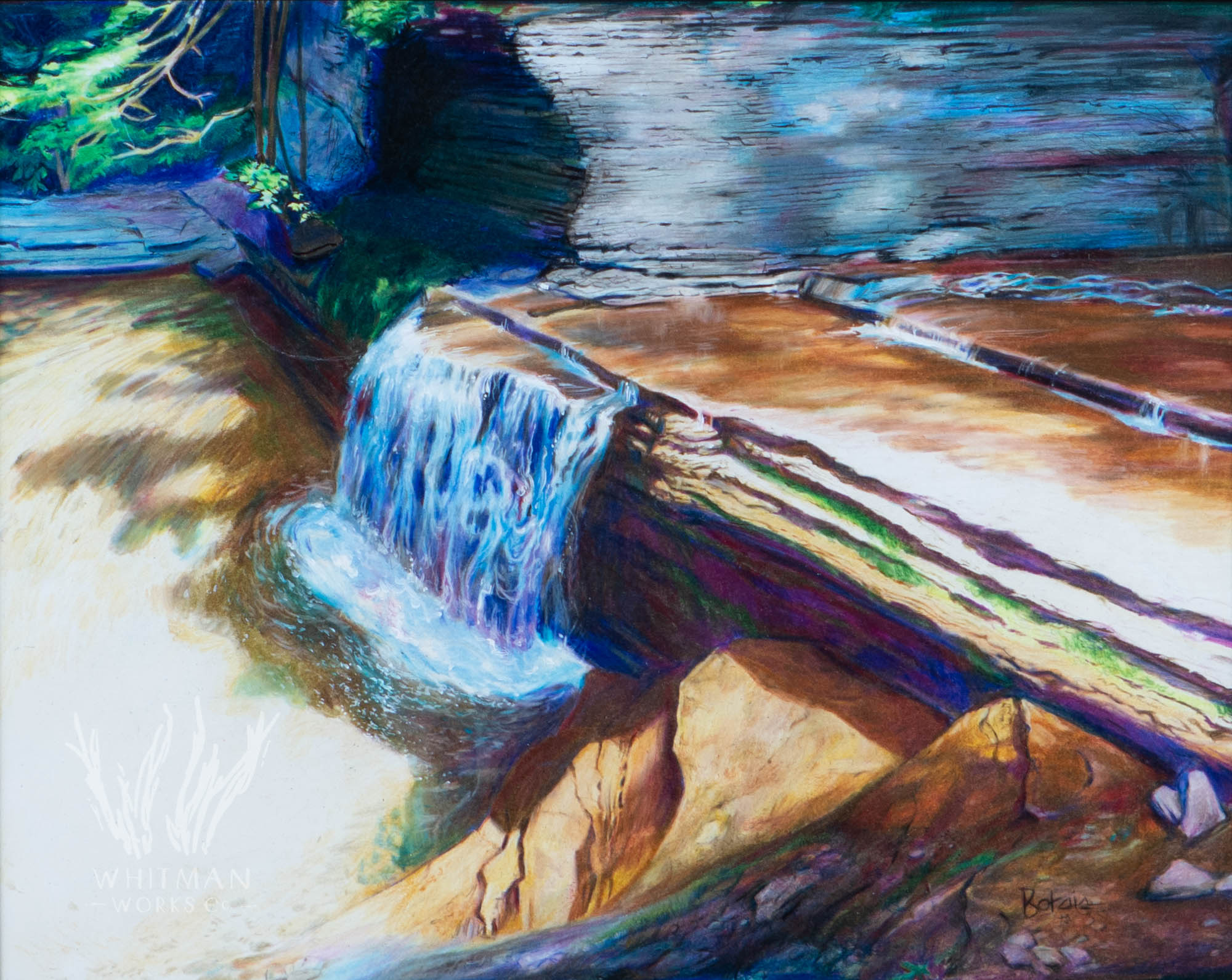 Glen waterfall by peter botsis
