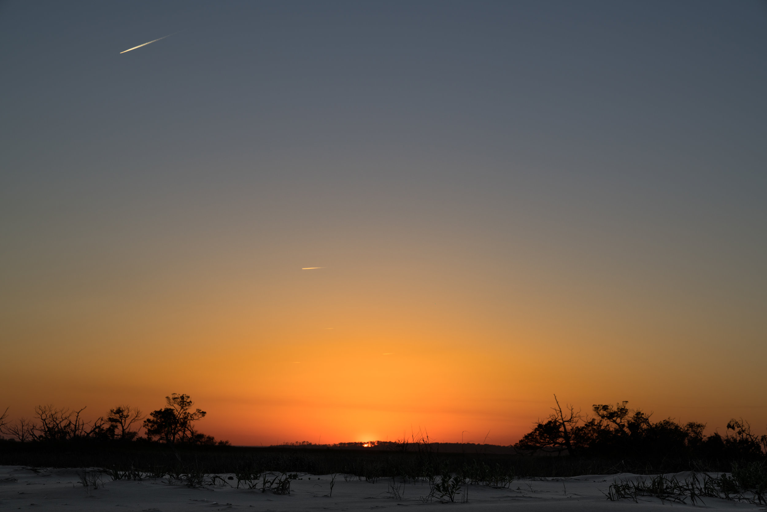 Sunset over Little Tybee Island