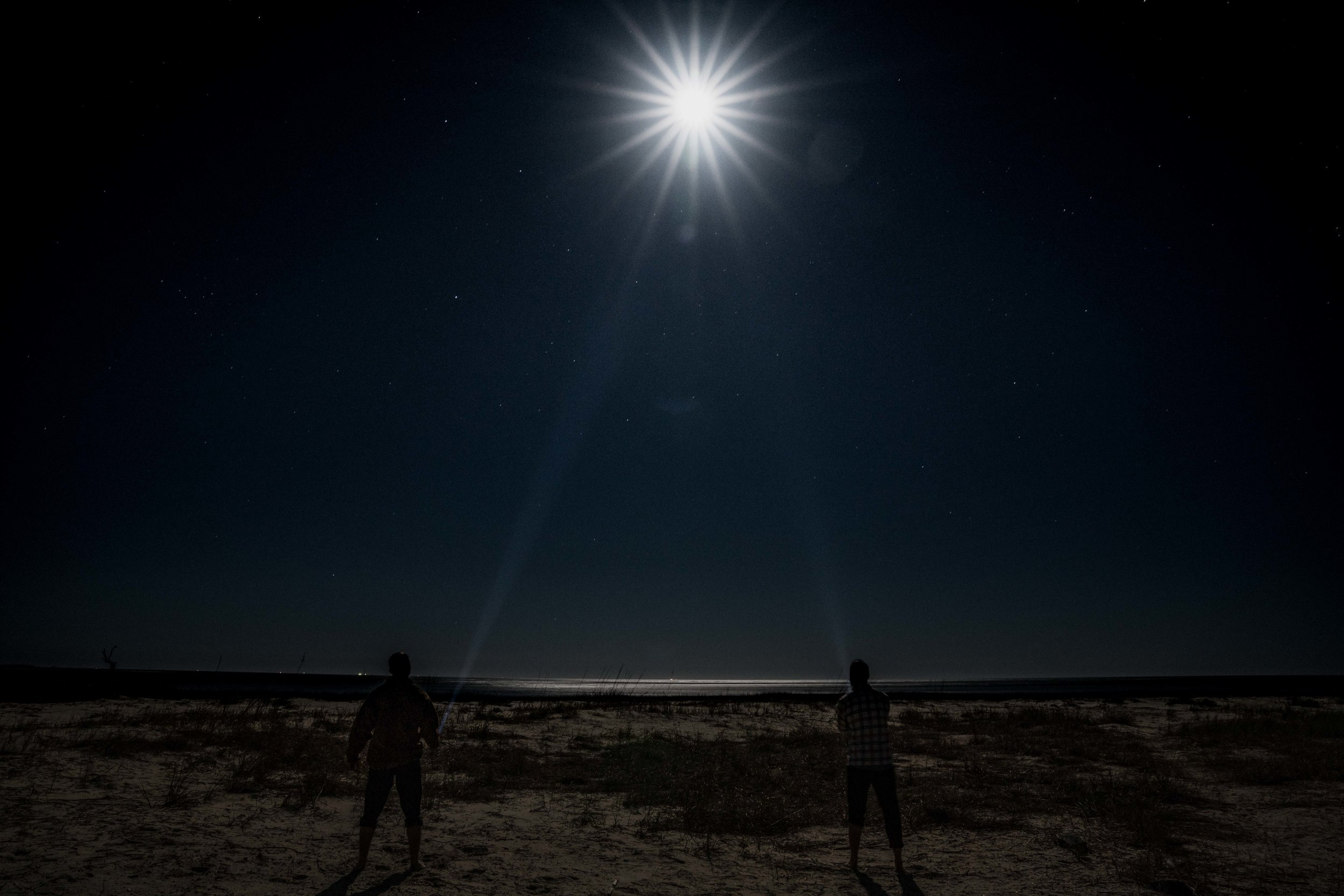 The Snow moon over Little Tybee Island via micahdeyoung.com