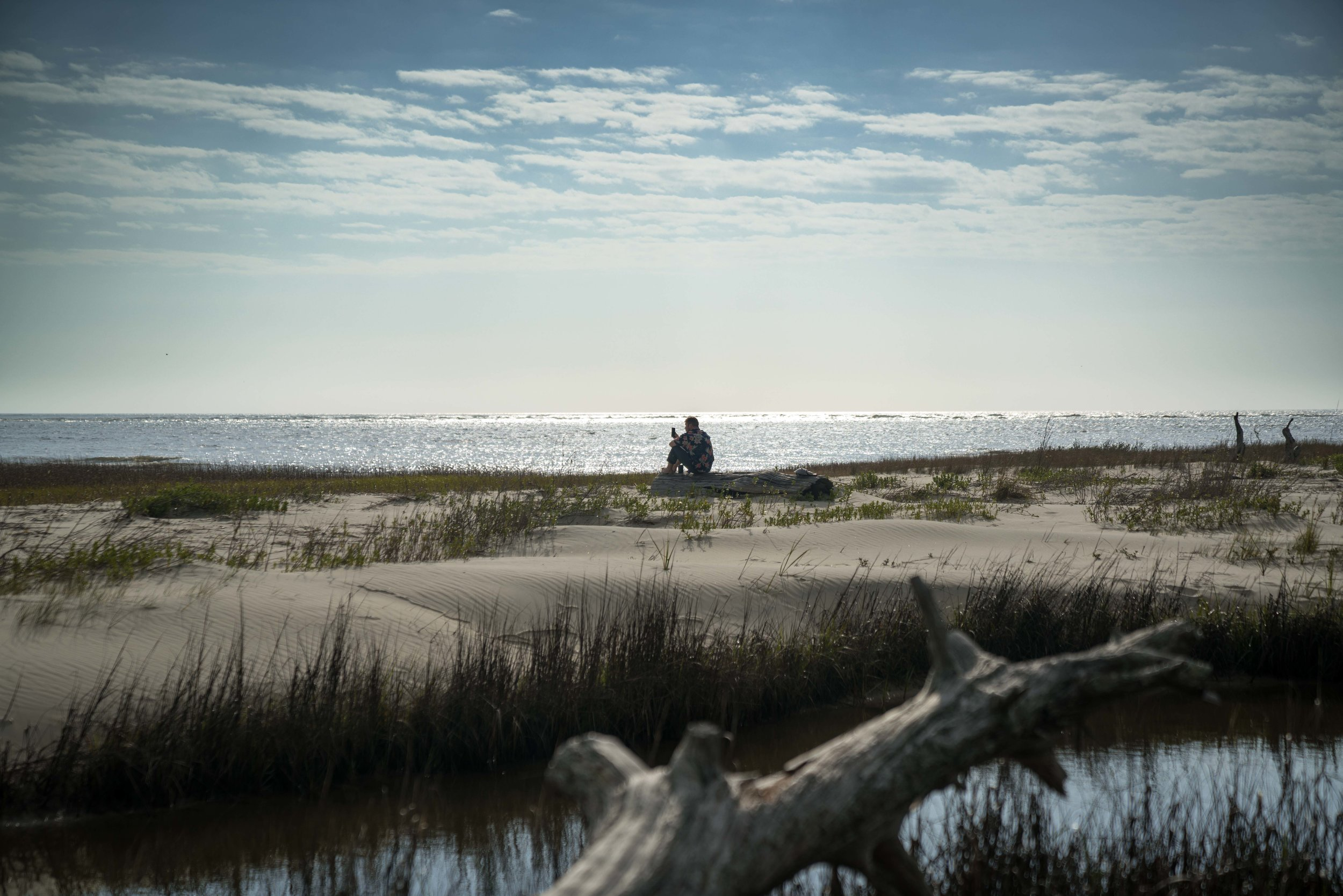 Solo wanderer on Little Tybee Island via micahdeyoung.com
