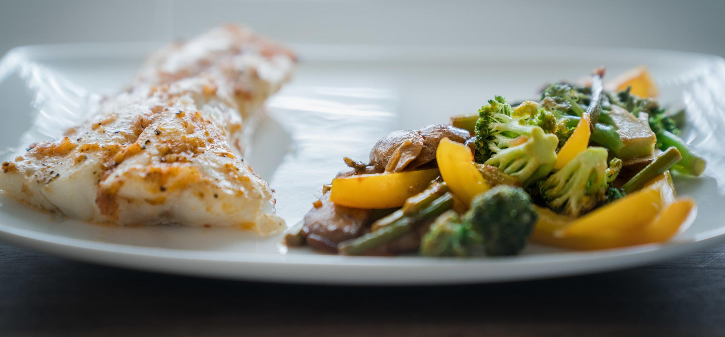 Haddock and Stir-fry recipe via micahdeyoung.com