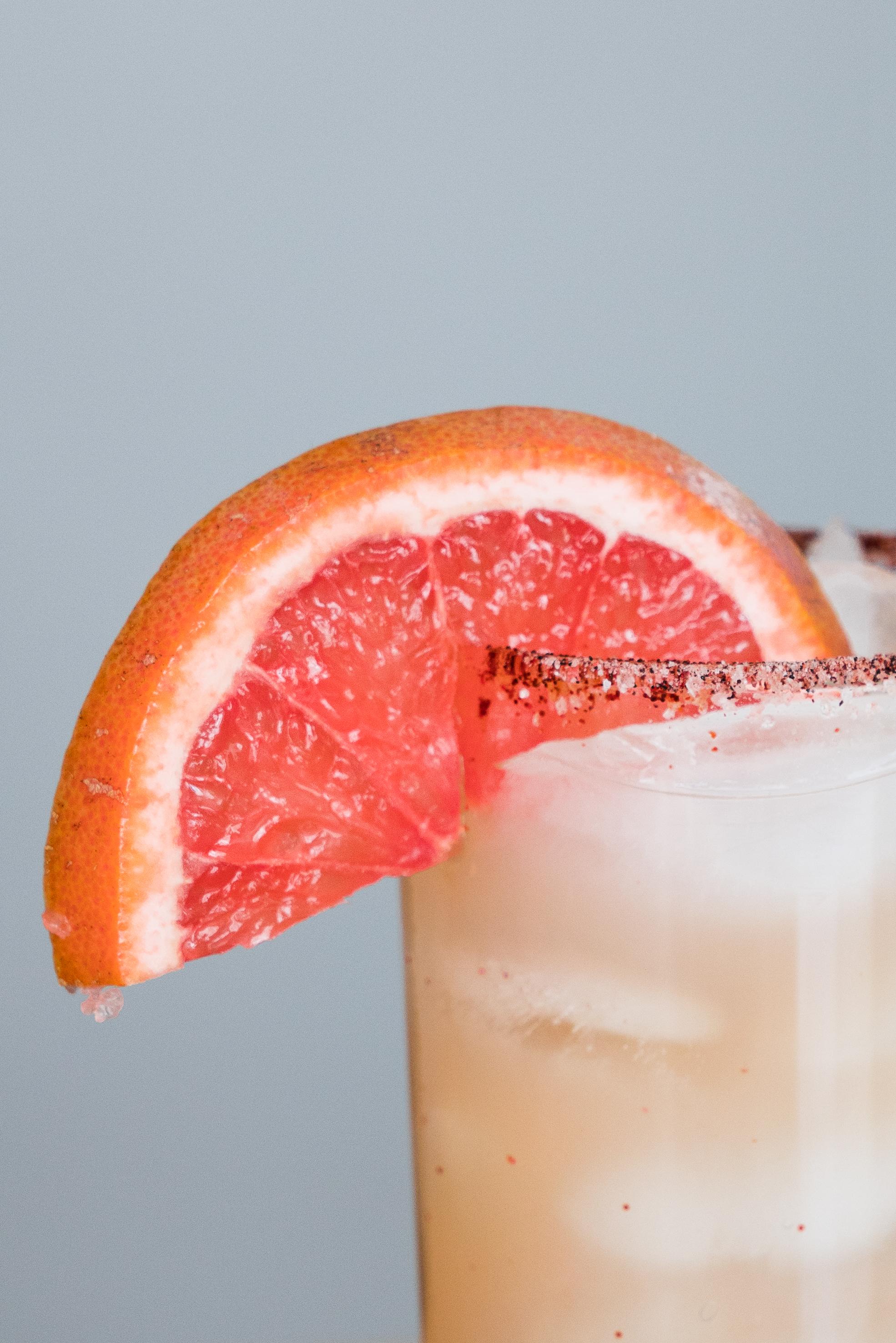 Grapefruit on a Salt and Chili Pepper rim via micahdeyoung.com