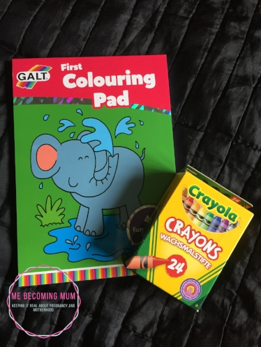 GALT first colouring pad and crayons