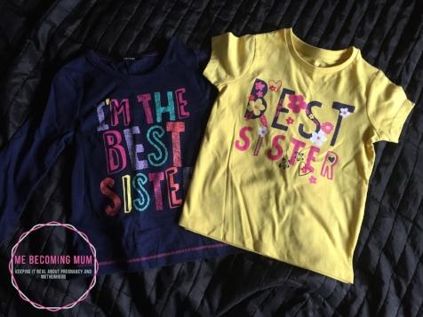 """""""Best Sister"""" t-shirt"""