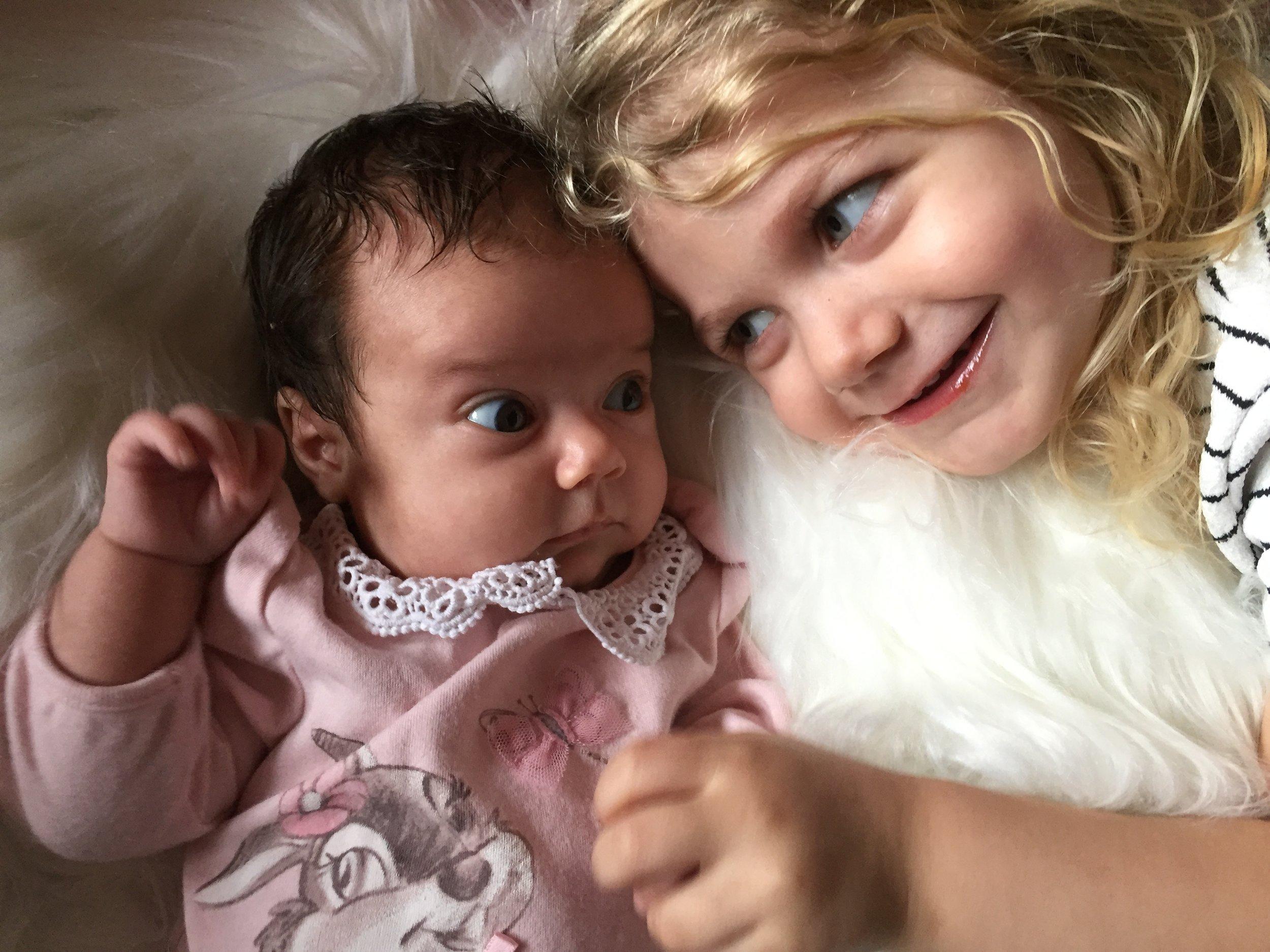 sisterly love © mebecomingmum