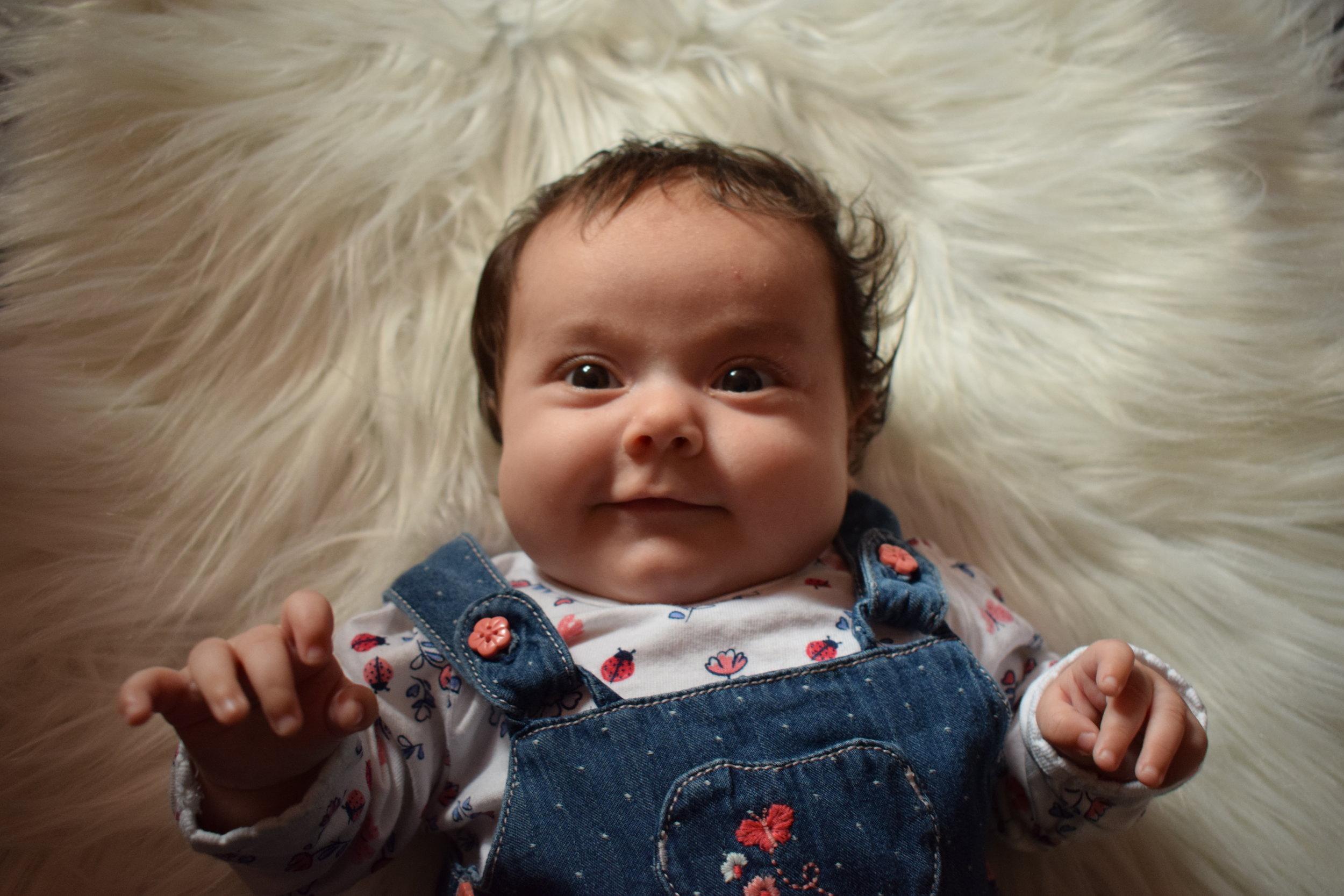 cute baby smiling © mebecomingmum