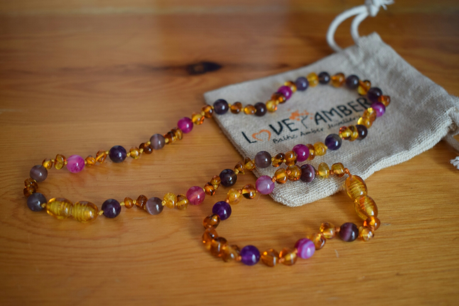 Love Amber X baltic amber anklet and necklace
