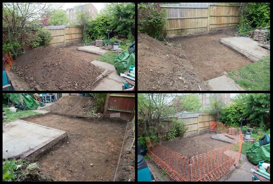 city garden work in progress