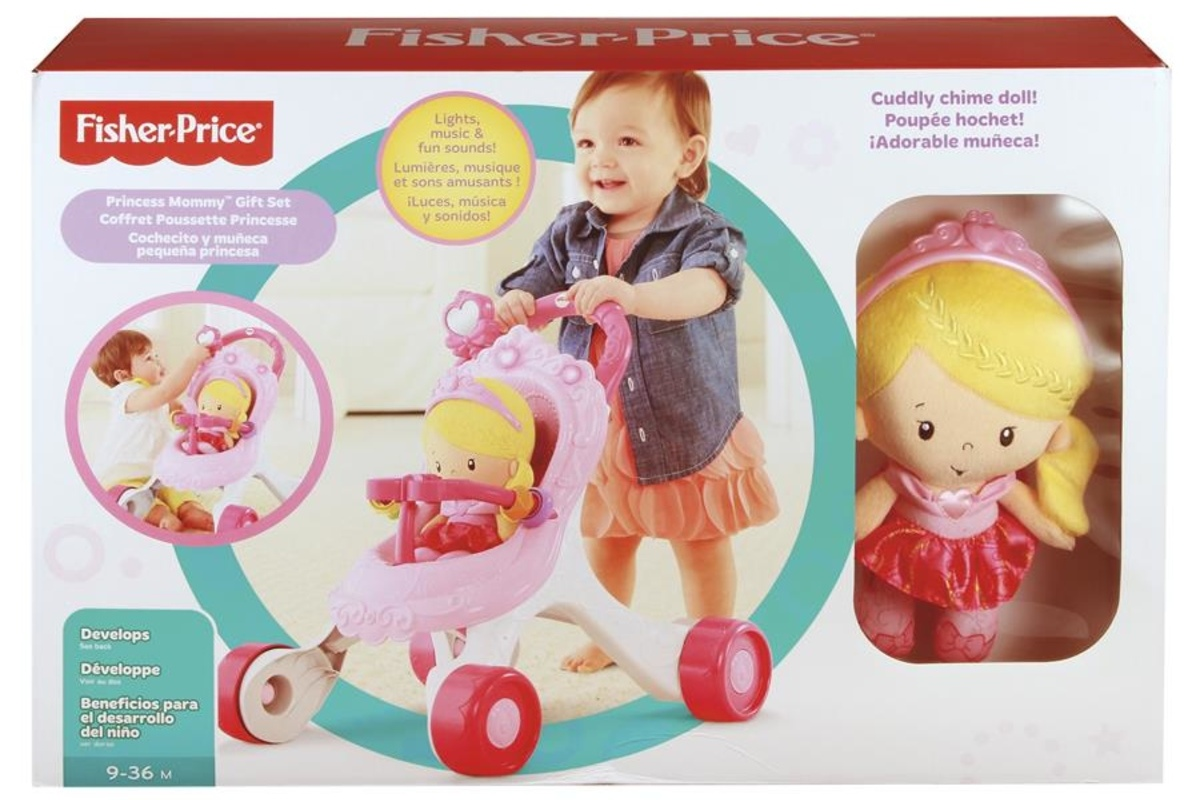 Fisher Price Princess Mommy Stroll Along Music Walker Stock Photo