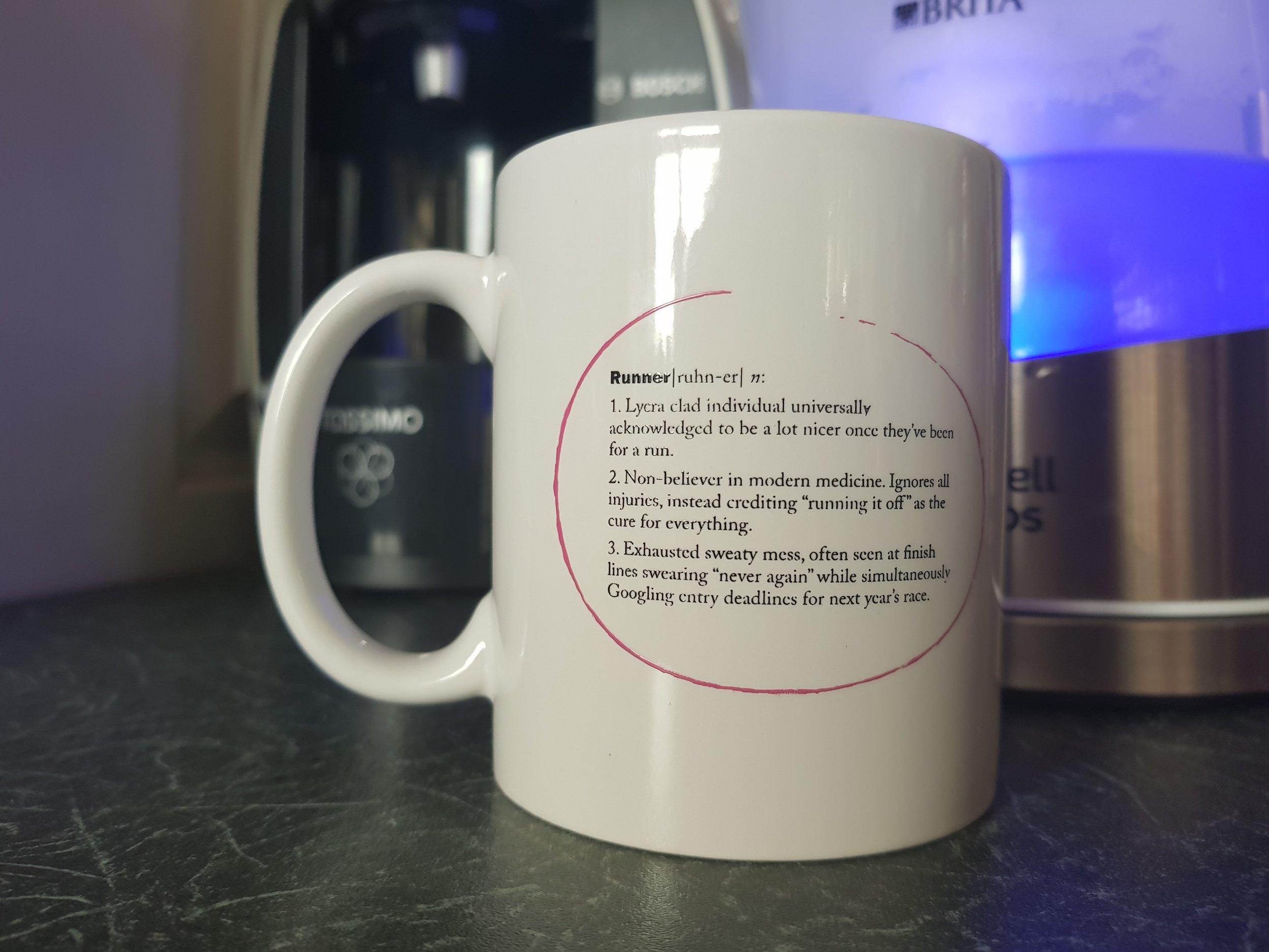 Runner mug from Running mate